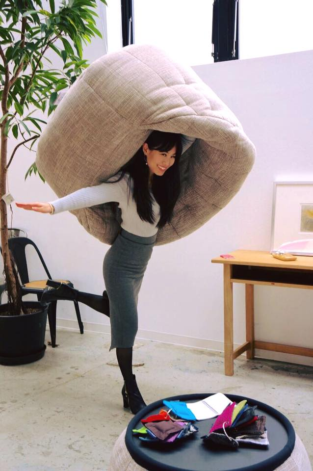 Lightweight Butterfly Sofa bean bag by Ambient Lounge in Tokyo