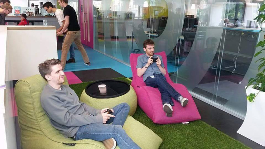 Why Cool Australian Office Break Out Areas With Bean Bags Improve Work Productivity And Make Your Company More Money