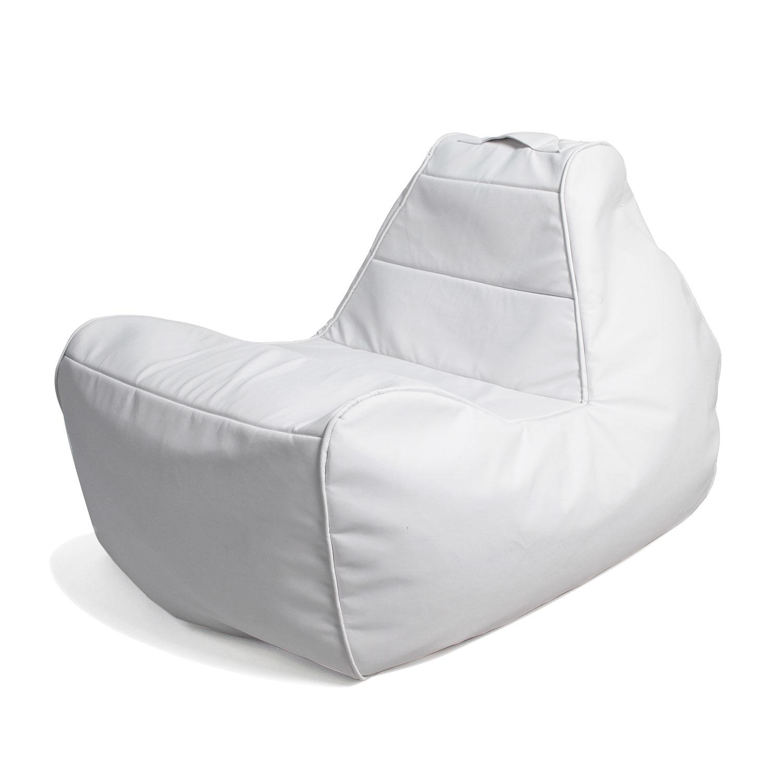 Infinity White Lounger Bean Bag Chair