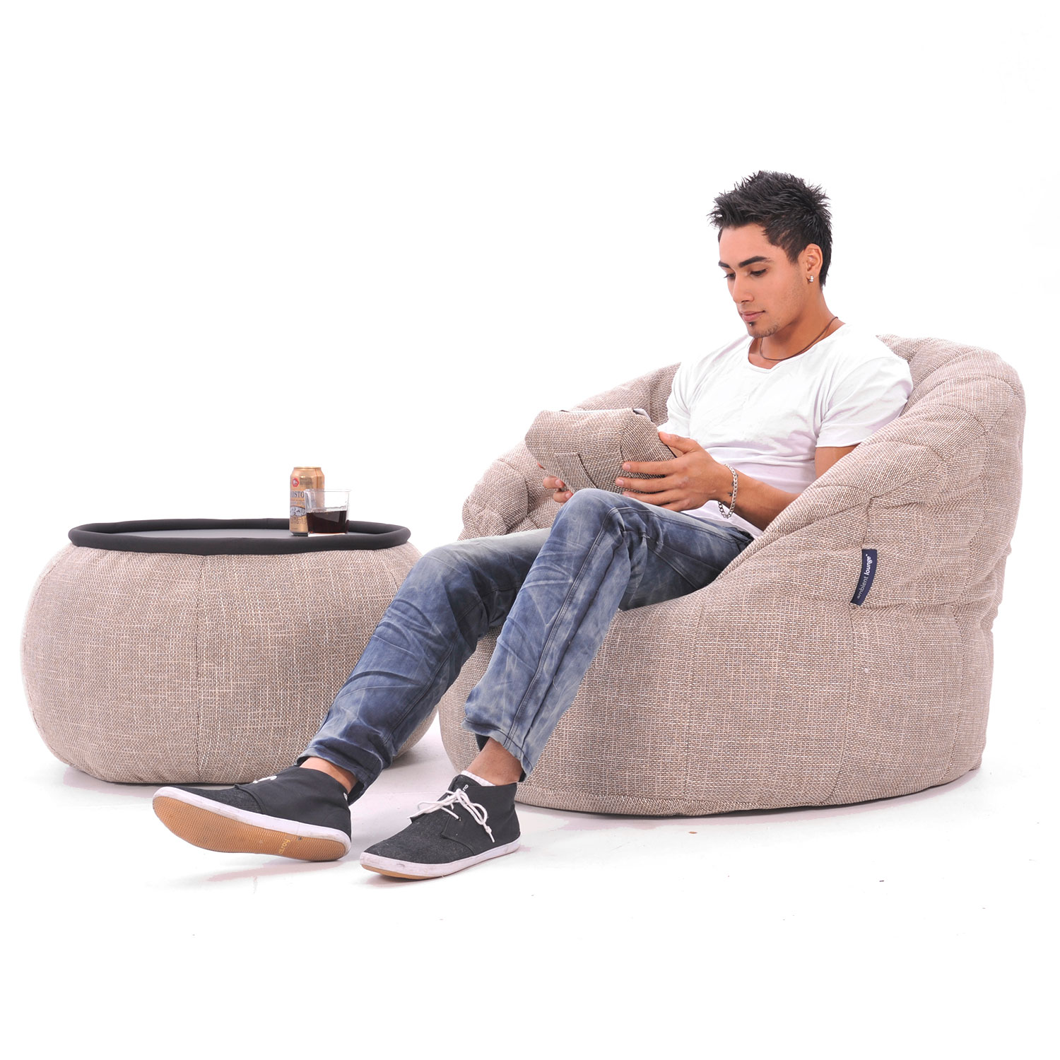 Interior Bean Bags Chair Butterfly Sofa Eco Weave