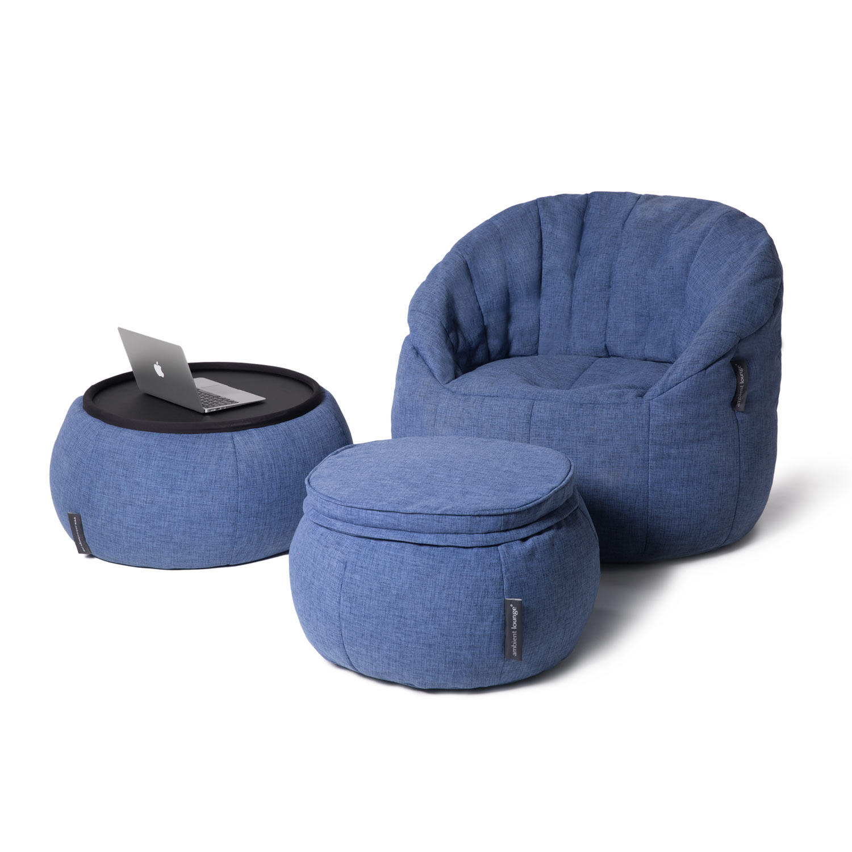 Indoor Blue Bean Bag Table Versa Table Blue Jazz