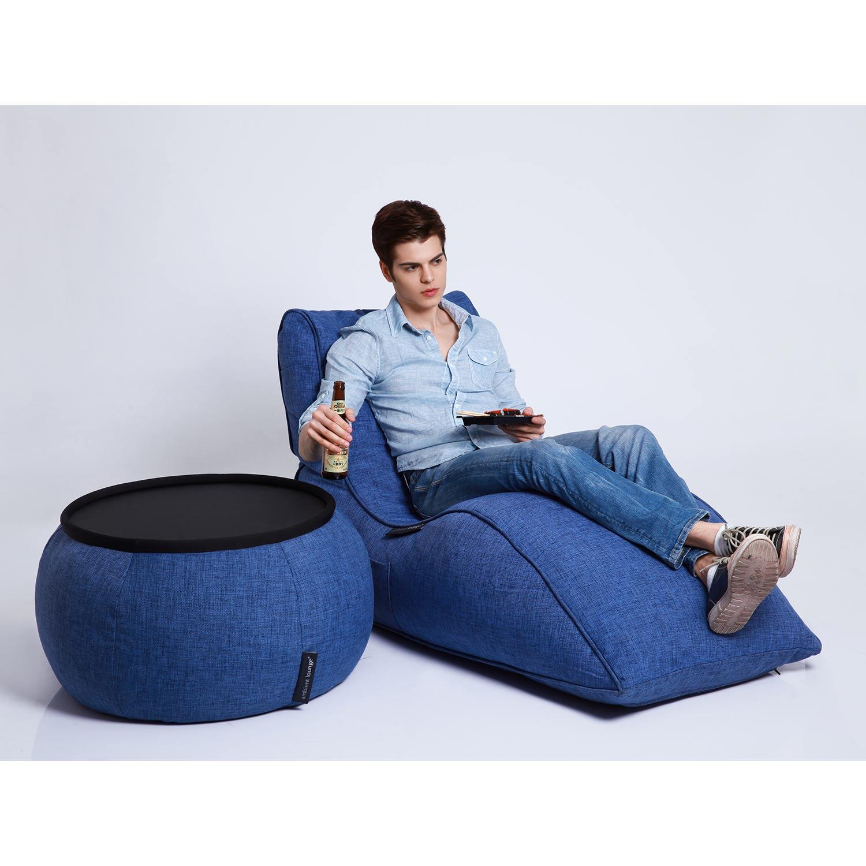 Home Cinema Indoor Bean Bags Avatar Lounger Blue Jazz