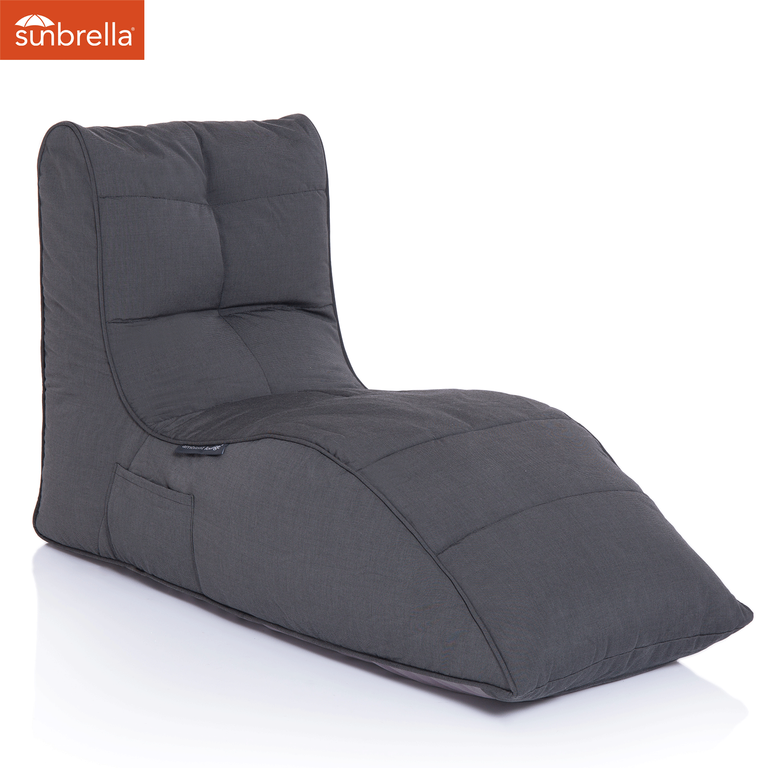 Outdoor Bean Bags Avatar Lounger Black Rock Sunbrella