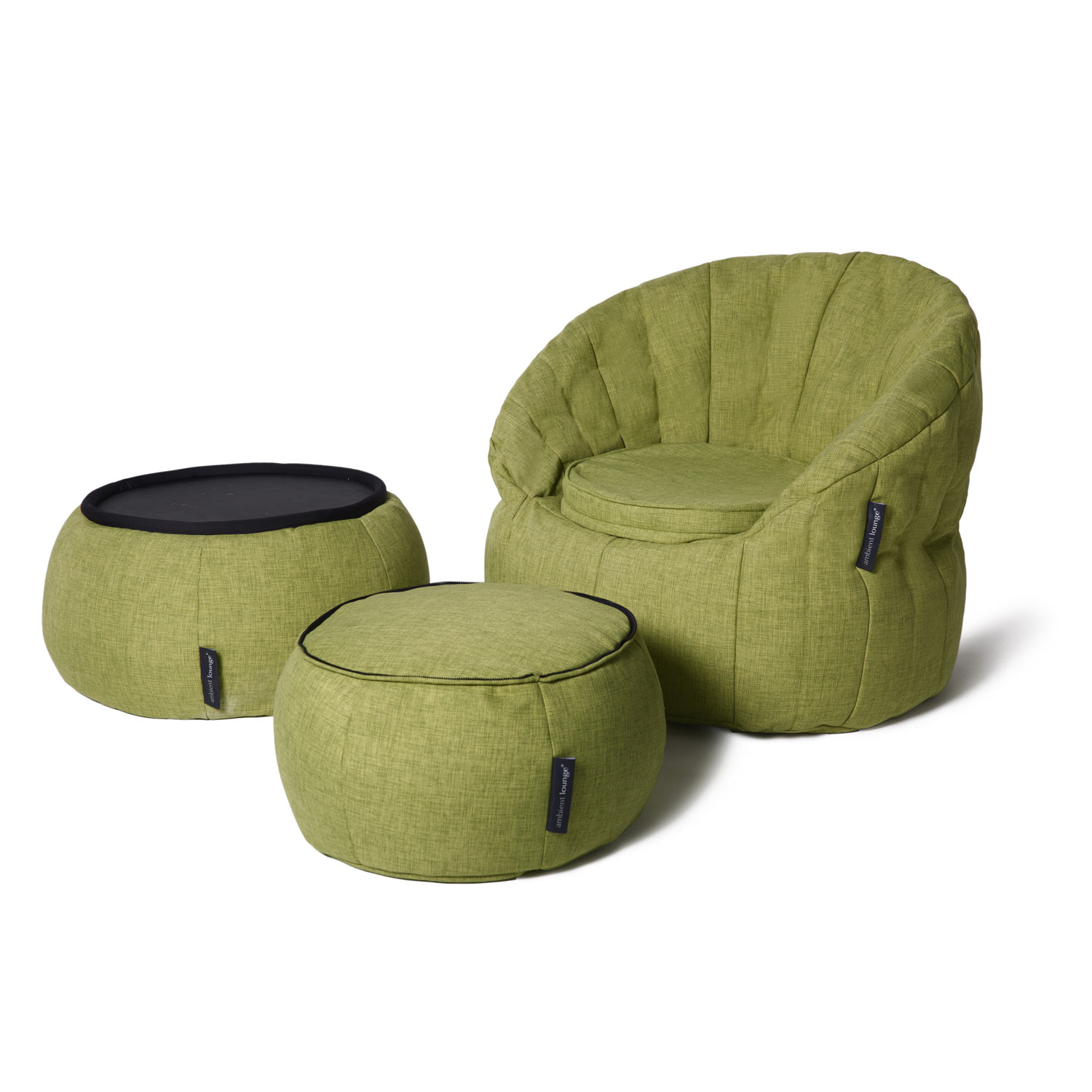 Indoor Green Bean Bag Table Versa Table Lime Citrus
