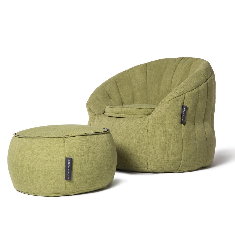 Interior Bean Bags Wing Ottoman Lime Citrus Bean Bag