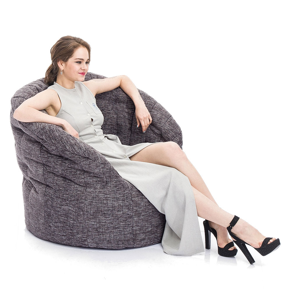 Interior Bean Bags Chair Butterfly Sofa Luscious Grey