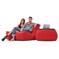 Red Twin Couch Bean Bag Sofa