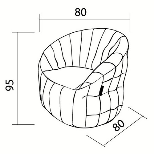 Interior designer Bean Bags Chair with structure