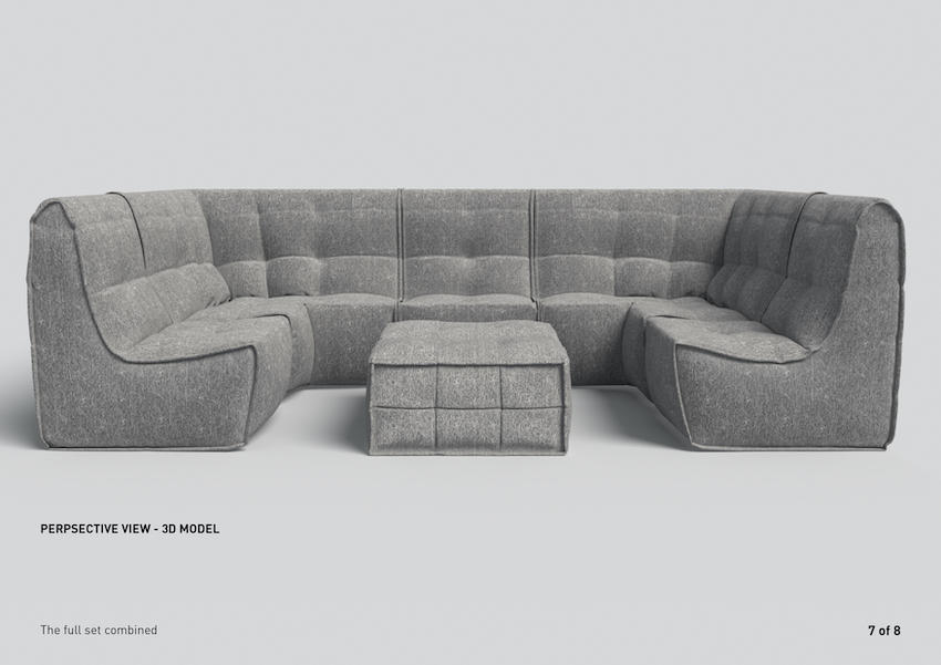 Modular soft furniture by Ambient Lounge. Home Cinema gold class furniture