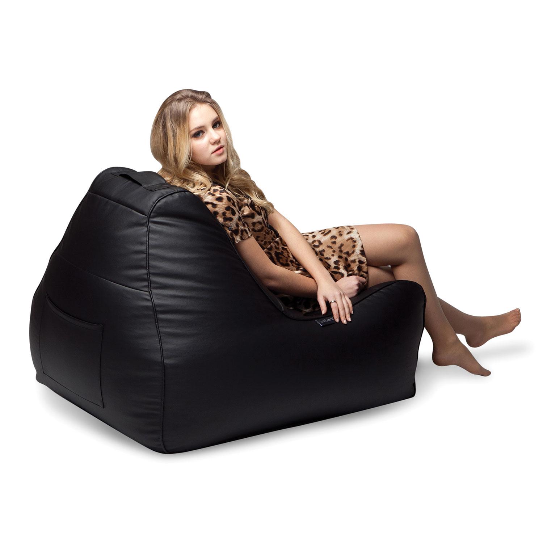 Classic Nero Lounger Bean Bag Chair Tivoli Lounger Bean