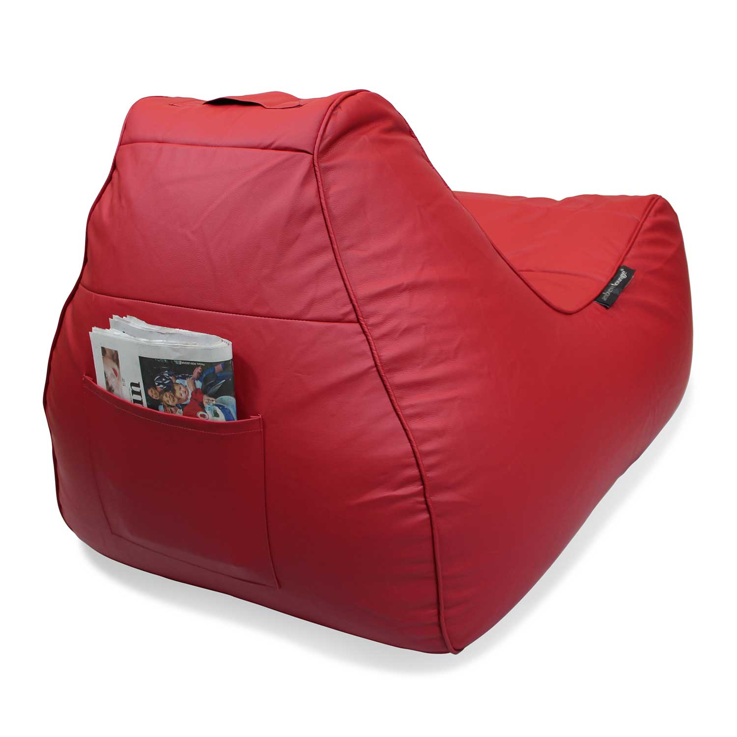 Red Leather Bean Bag