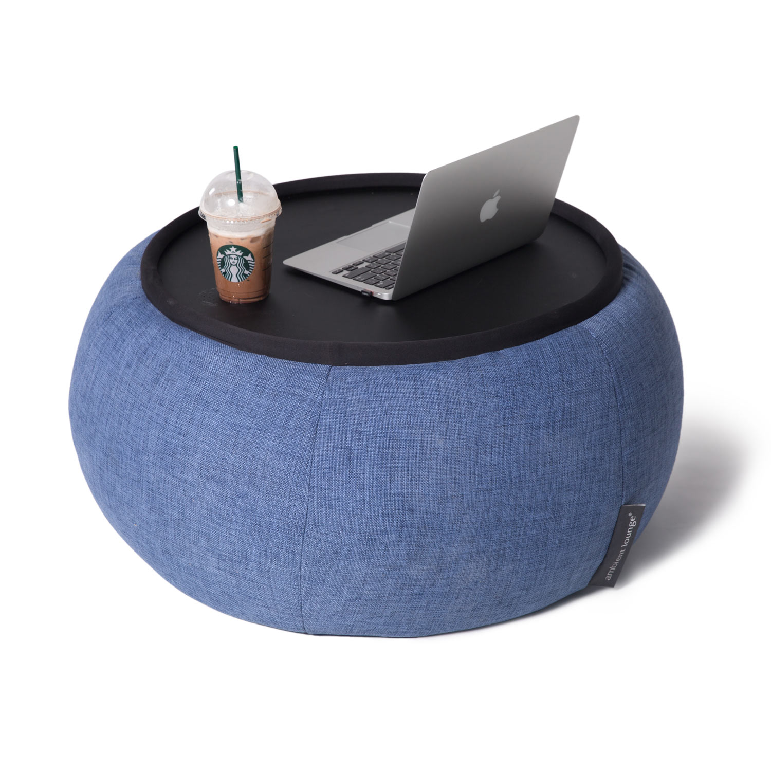 Indoor Blue Bean Bag Table Versa Table Blue Jazz
