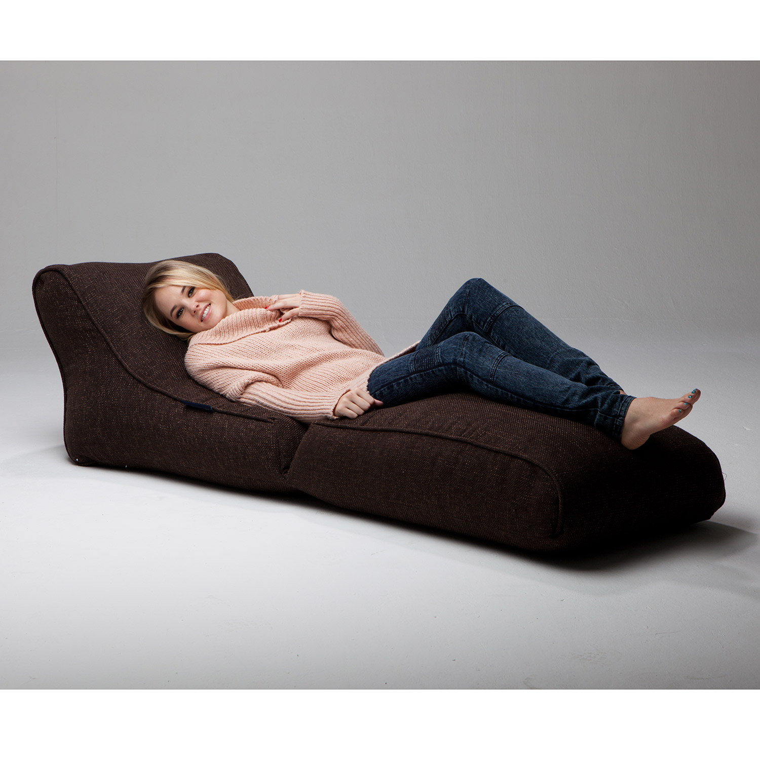 Indoor Bean Bags Conversion Lounger Hot Chocolate