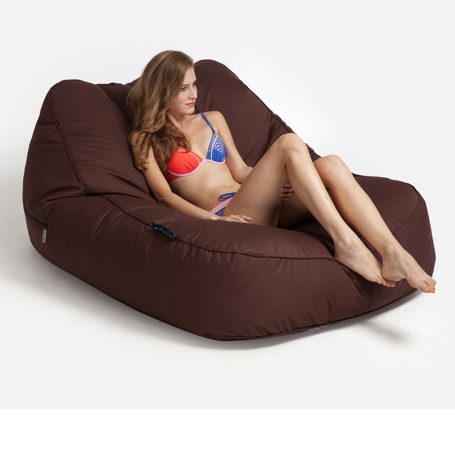 Outdoor Bean Bags Satellite Twin Sofa Earthcore Brown
