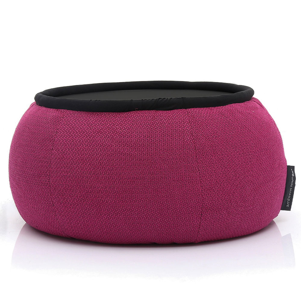 Indoor Pink Bean Bag Table Versa Table Sakura Pink