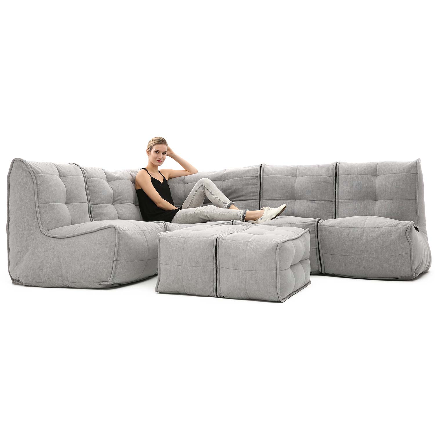 Modular Lounge Sets Ready To Lounge Sets Mod 5 Living Lounge Keystone Grey With Linen