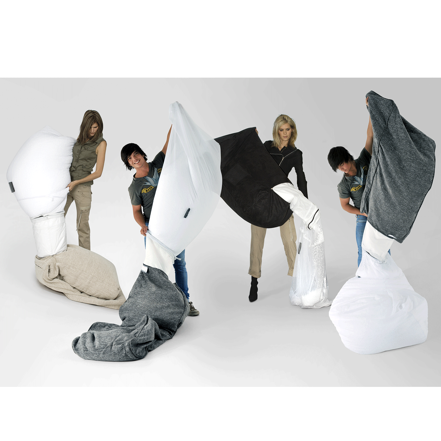 Charmant ... White Premium Filling Bean Bags By Ambient Lounge