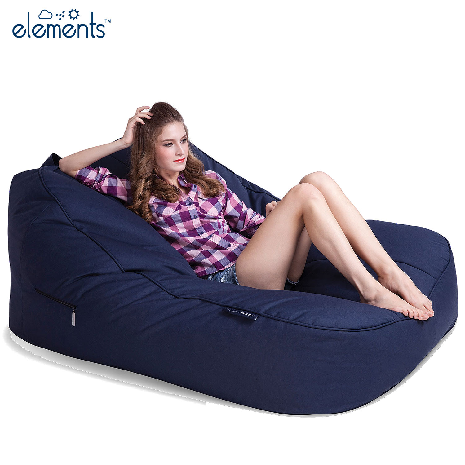 Outdoor Bean Bags Satellite Twin Sofa Deep Atlantic