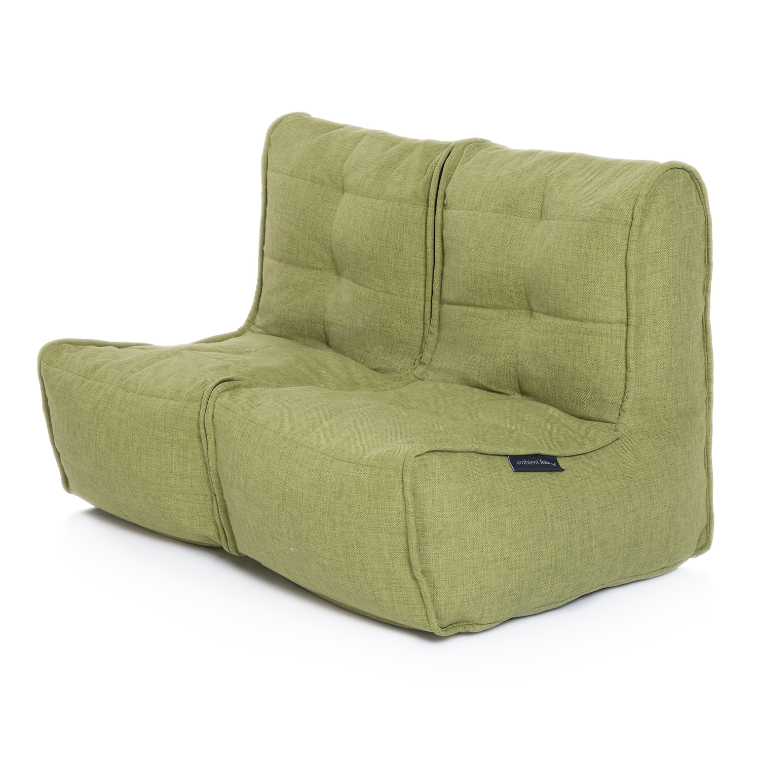 2 Seater Green Sofa Designer Bean Bag Couch Green