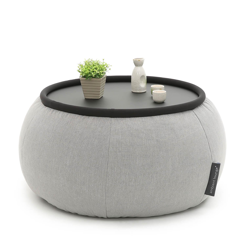 Gorgeous Acryllic Table With Grey Linen Fabric Versa Table Keystone
