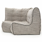 Ambient Lounge Modular corner bean bag in Eco Weave fabric side view