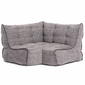 Modular corner bean bag in Luscious Grey