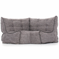 Modular corner bean bag in Luscious Grey low angle
