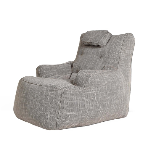 tranquility armchair by ambient lounge in ecoweave linen fabric