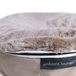 S - Premium Cover - Cappuccino Frosted Faux Fur (Fits cat bed)