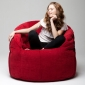 red butterfly bean bag