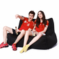 Black Twin Couch Bean Bag Sofa