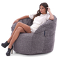 grey bean bag chair