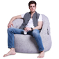 white bean bag chair