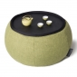 Green Versa Table made of bean bags