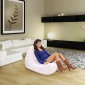 White Leather Bean Bag - Ambient Lounge
