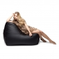Black Leather Bean Bag - Ambient Lounge