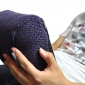 Violet iPad Pro protective cushion or travel rest pillow by Ambient Lounge