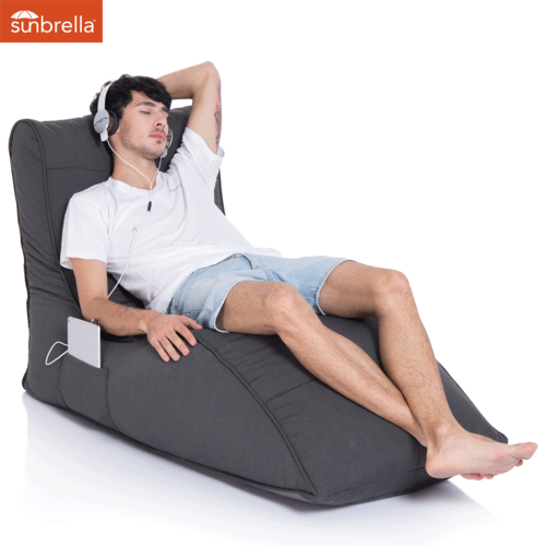black avatar sunbrella fabric bean bag