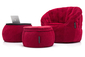 red designer sofa set bean bag by Ambient Lounge