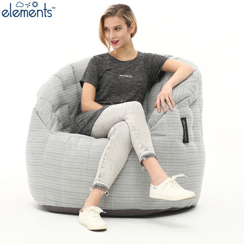 silver large bean bag sofa
