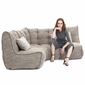 beige fabric modular sofa bean bags by ambient lounge