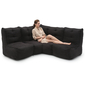 black fabric modular sofa bean bags by ambient lounge