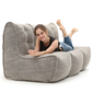 beige fabric modular sofa bean bags by ambient lounge for home cinema