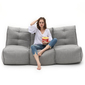 Grey fabric modular sofa bean bags by ambient lounge for home cinema
