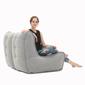 Grey fabric modular sofa bean bags by ambient lounge