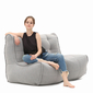 comfortable 2 Piece Twin couch Bean Bags in Grey Interior Fabric