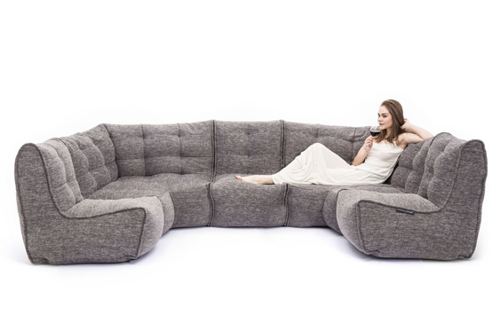 Modular beanbag sofa system