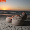 cream butterfly sunbrella fabric bean bag
