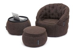 brown designer sofa set bean bag by Ambient Lounge