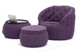 violet designer sofa set bean bag by Ambient Lounge